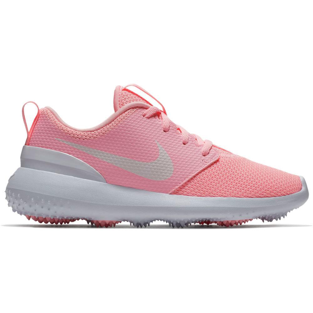 Nike Junior Roshe G Pink Golf Shoe