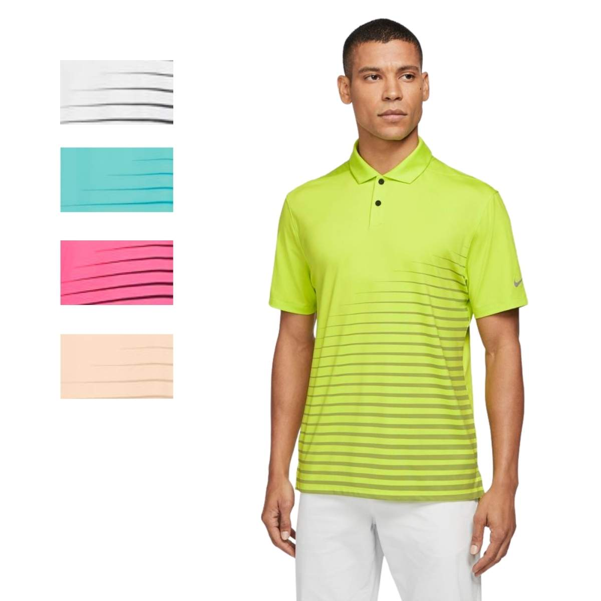 Nike Men's 2021 Dri-Fit Vapor Graphic Stripe Polo