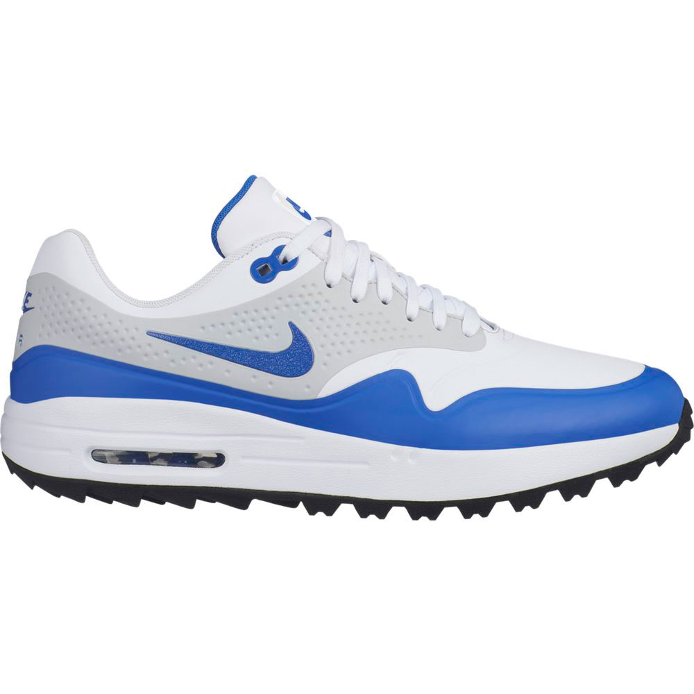 Nike Men's Air Max 1G White/Royal Golf Shoe