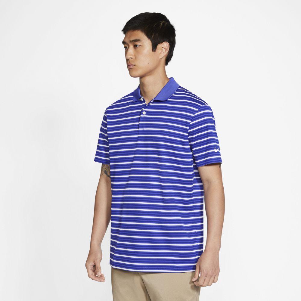 Nike Men's Dri-FIT Victory Striped Polo - Lapis