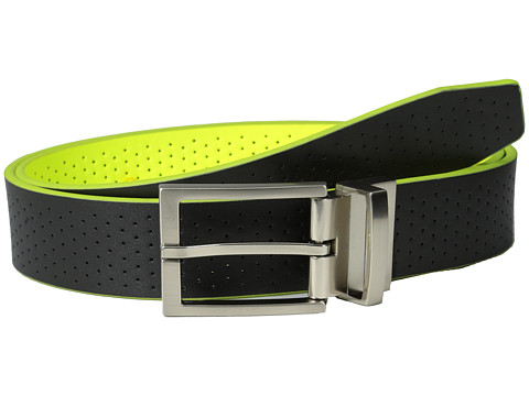 Nike Perforated Reversible Golf Belt - Black/Volt