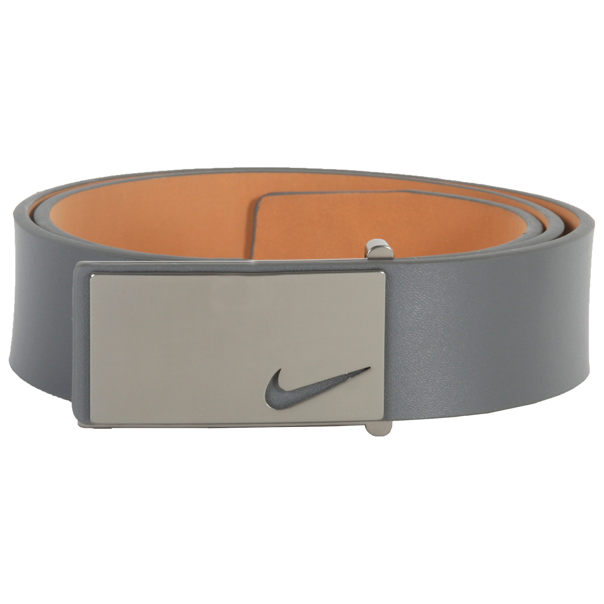 Nike Sleek Modern Plaque Belt - Grey
