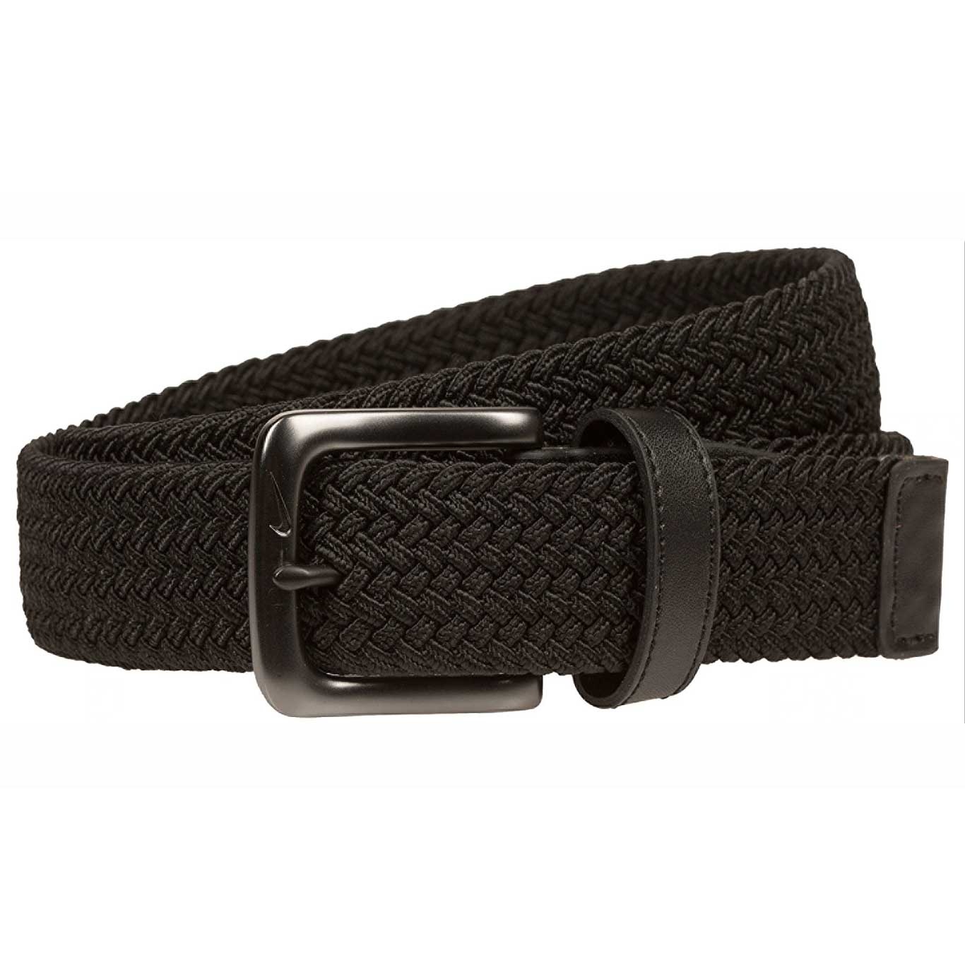 Nike Stretch Woven Black Golf Belt
