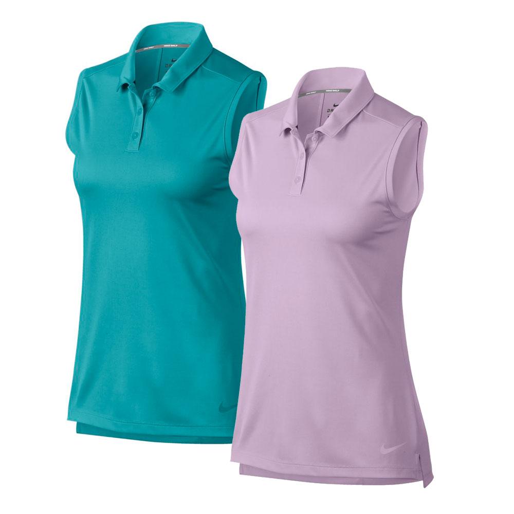 Nike Women's 2019 Drifit Sleeveless Solid Polo
