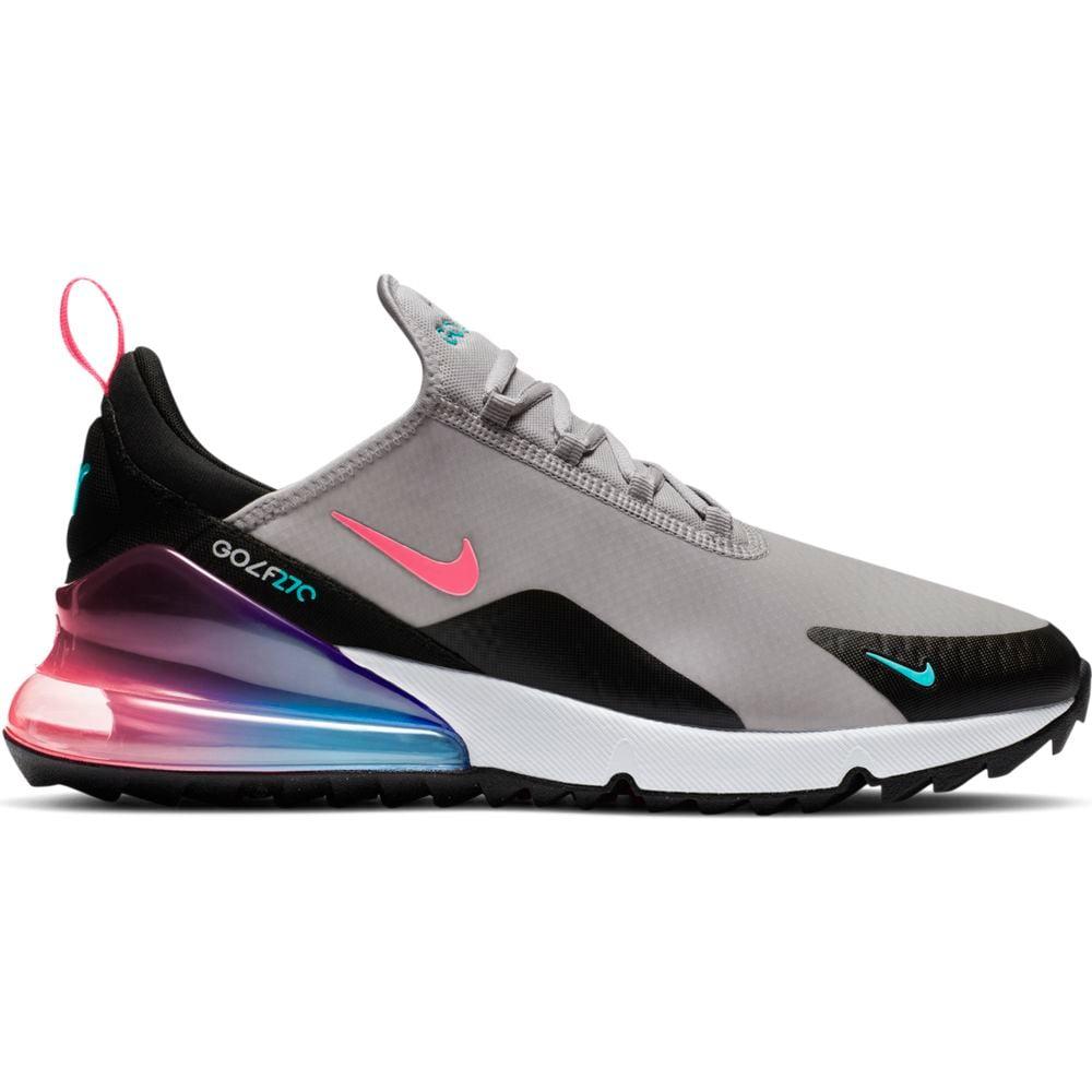 Nike Women's 2021 Air Max 270 G Grey/Hot Punch Golf Shoe