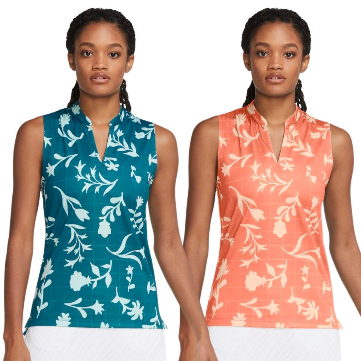 Nike Women's 2021 Breathe Printed Floral Sleeveless Golf Polo
