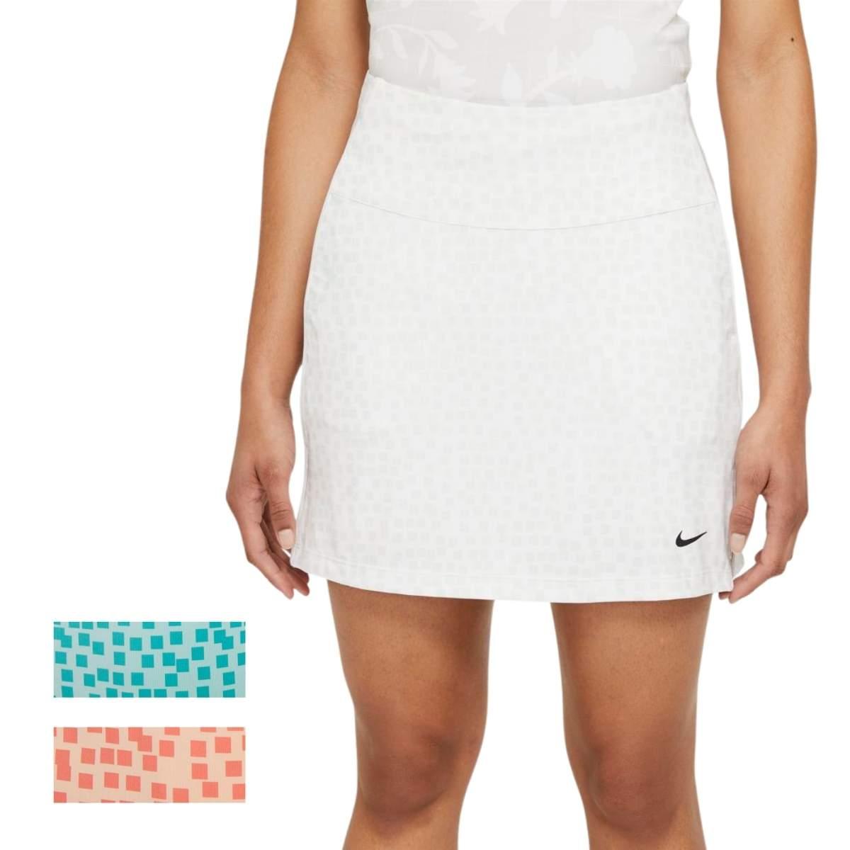 """Nike Women's 2021 Dri-Fit UV 17"""" Grid Golf Skort"""