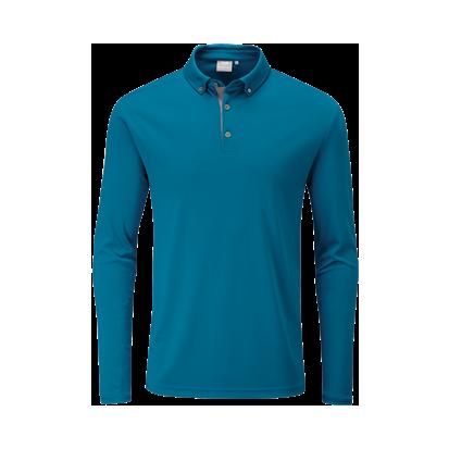 Ping Golf Flynn Long Sleeve Polo - Teal