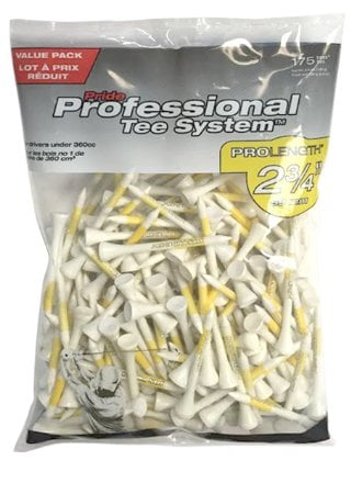 "Pride Professional Tee System 2 3/4"" Golf Tees (175 Count)"