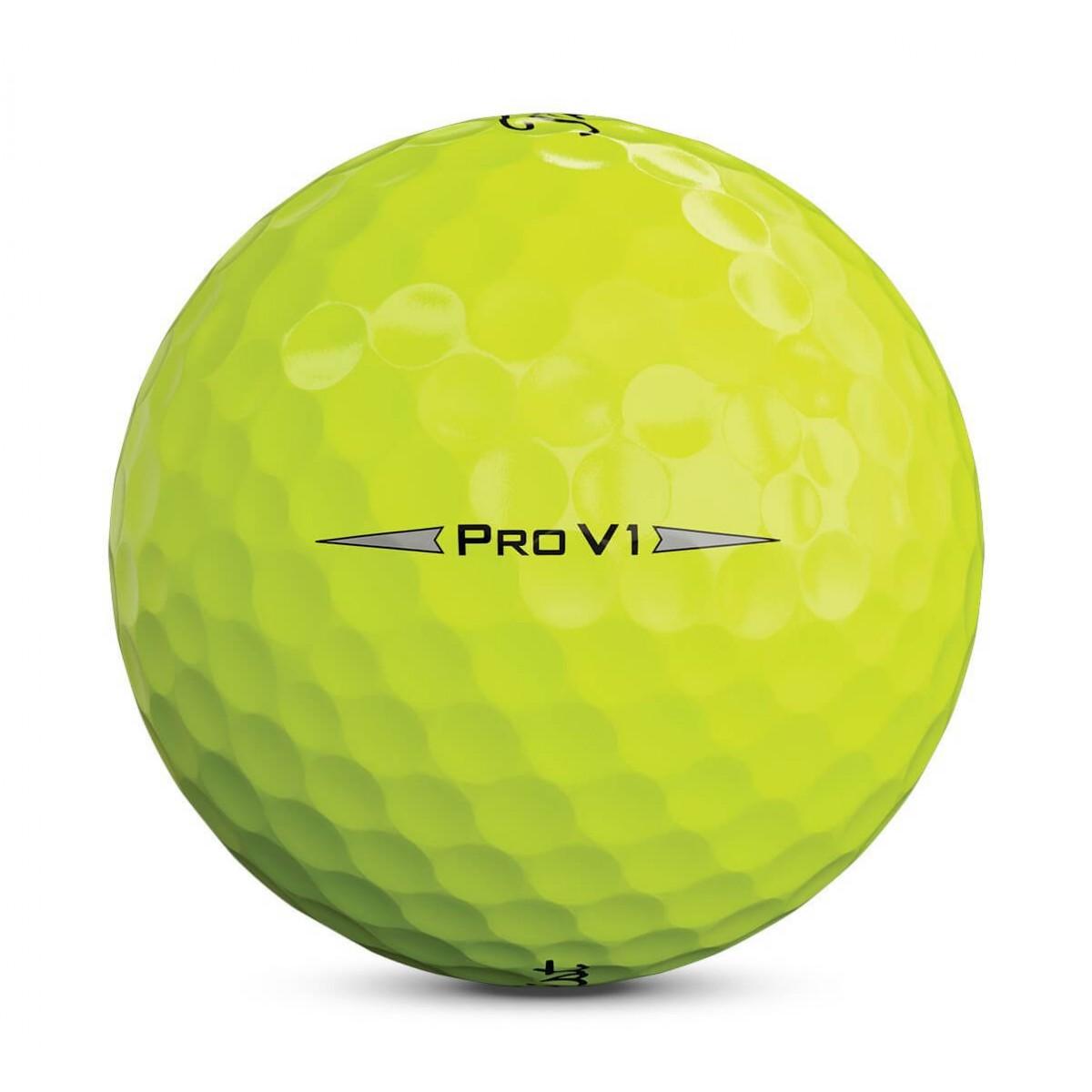 Titleist Pro V1 Yellow Personalized Golf Balls