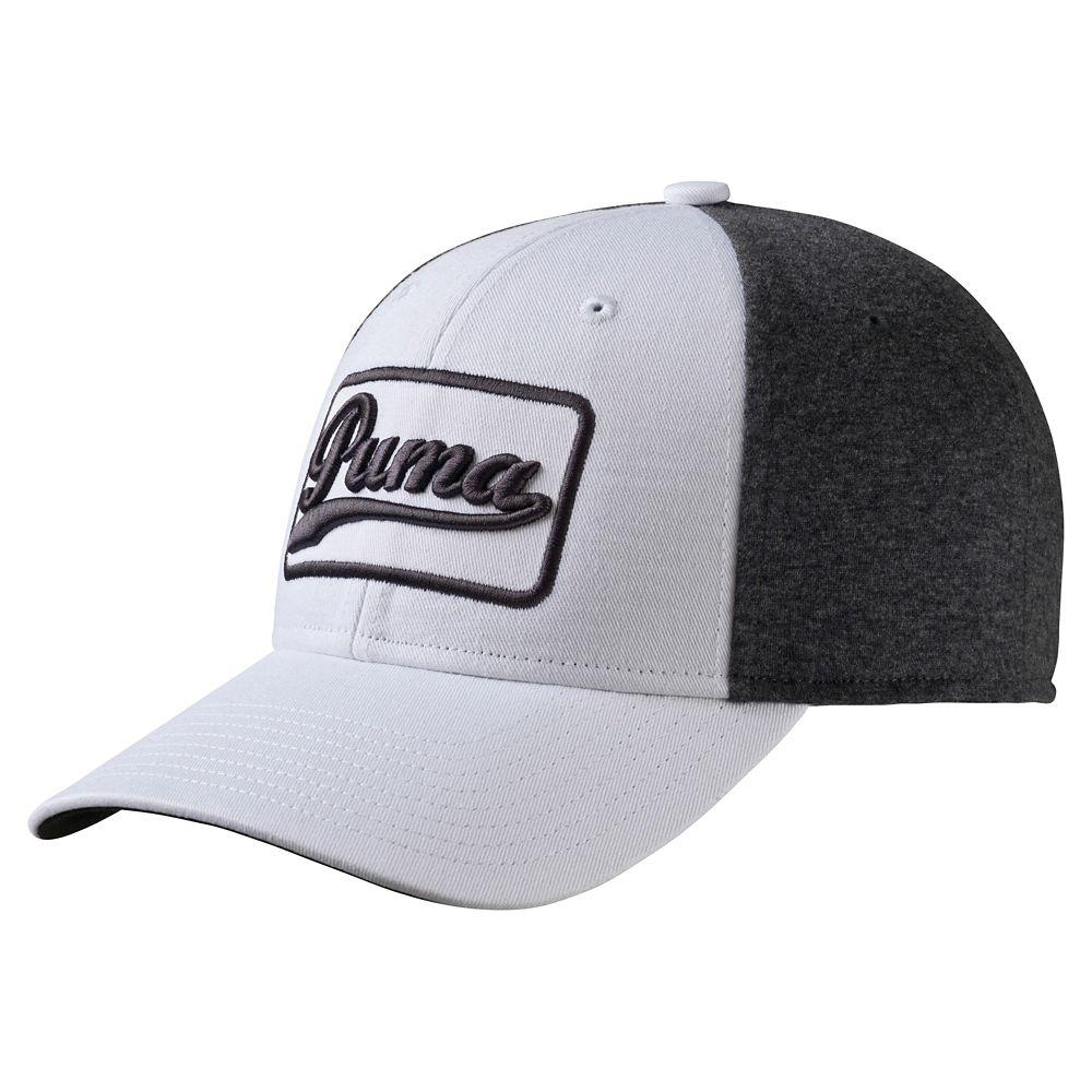 Puma Greenskeeper Adjustable Golf Cap White/Grey