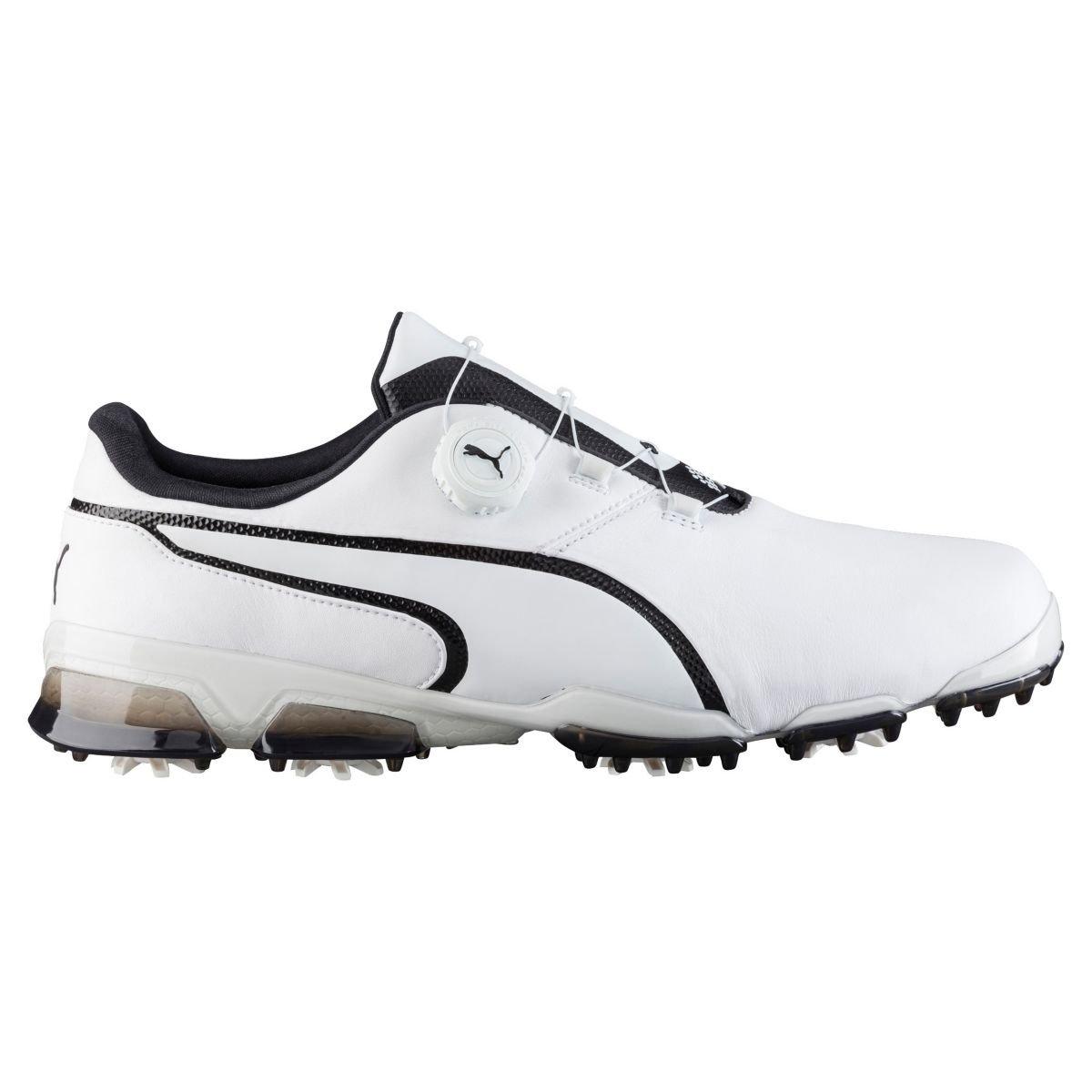Puma Men's TitanTour Ignite Disc Golf Shoe - White/Black
