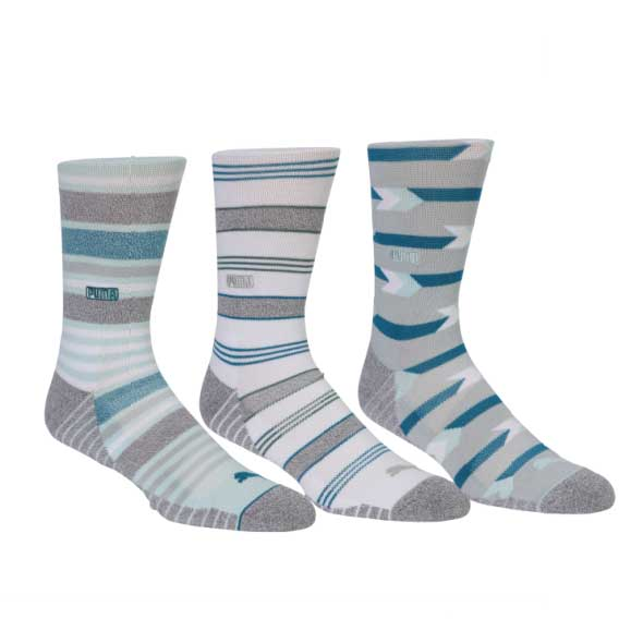 Puma Men's 2021 Fusion Stripe Crew Socks