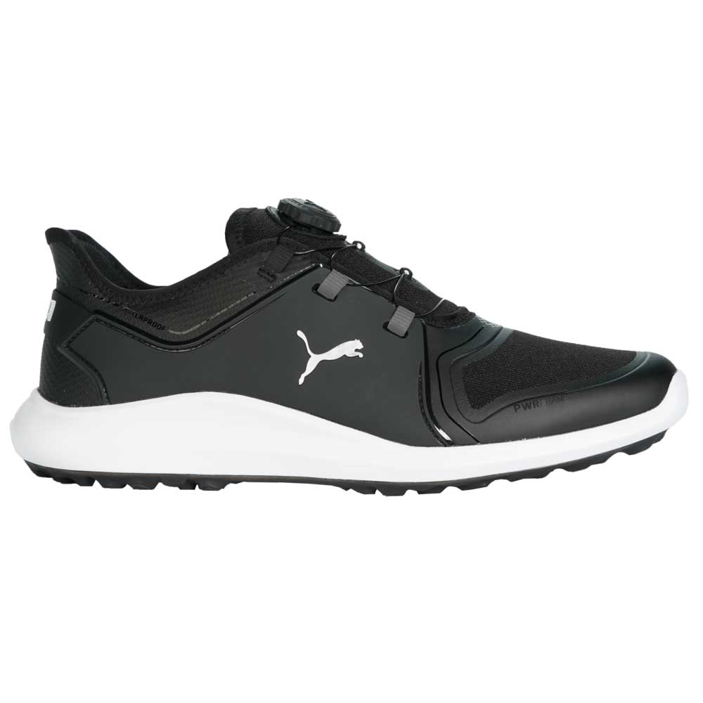 Puma Men's 2021 Ignite Fasten8 DISC Black/Silver Golf Shoe