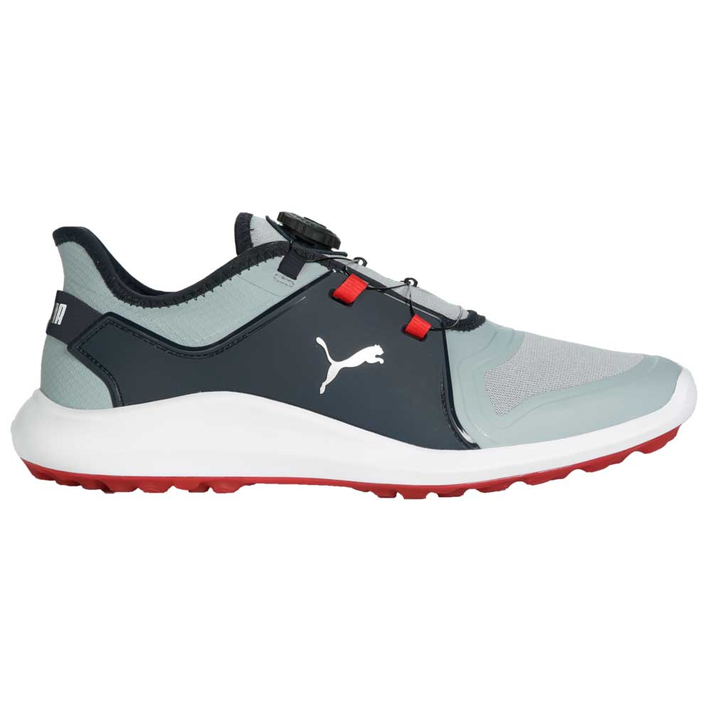 Puma Men's 2021 Ignite Fasten8 DISC Quarry/Silver/Navy Golf Shoe