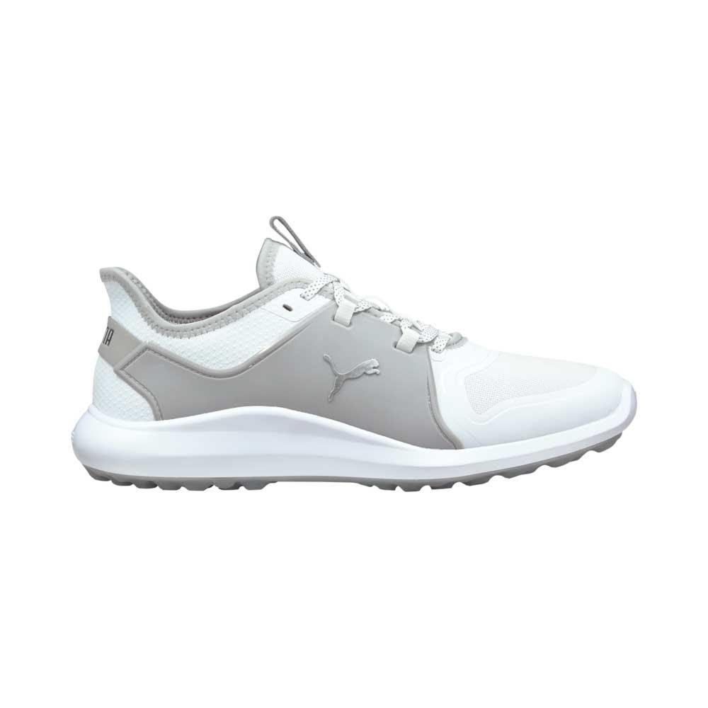 Puma Men's 2021 Ignite Fasten8 White/Silver Golf Shoe