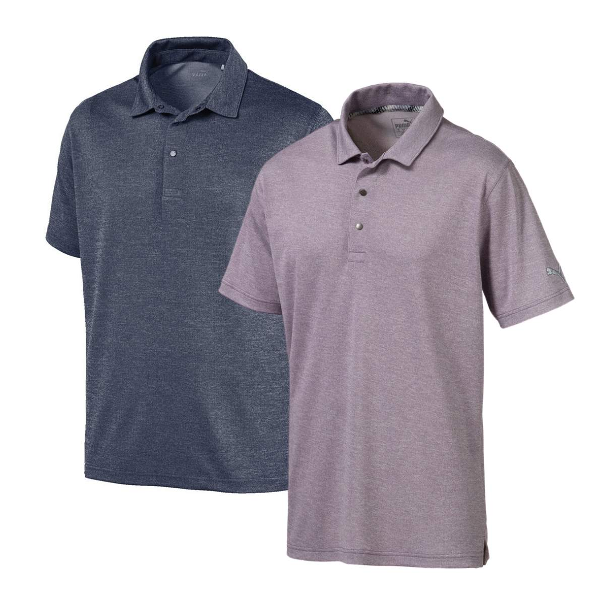 Puma Men's Grill To Green Heathered Polo