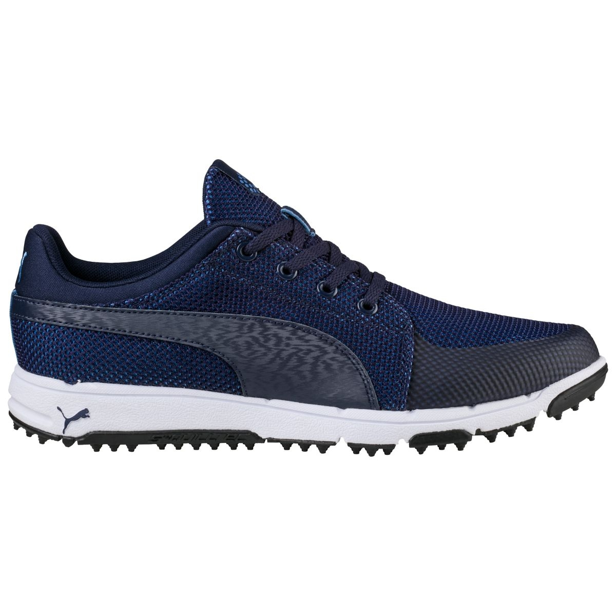 Puma Mens Grip Sport Tech Spikeless Golf Shoe - Peacoat