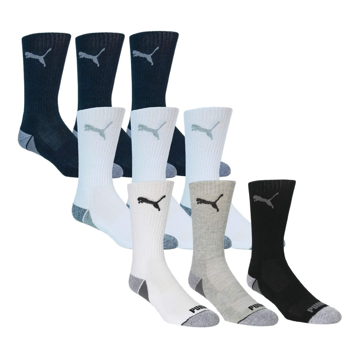 Puma Men's Pounce Crew 3 Pack Socks