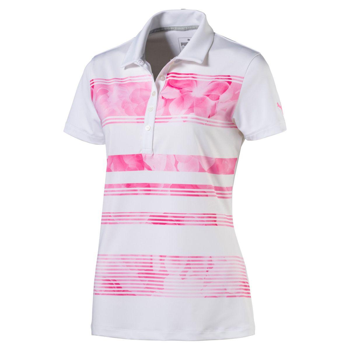 Puma Women's Bloom Stripe Polo Pink