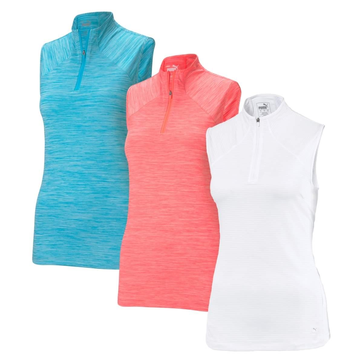 Puma Women's 2021 Daily Mockneck Sleeveless Polo