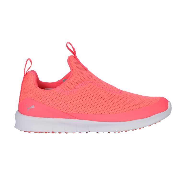 Puma Women's 2021 Laguna Fashion Slip On Pink/Silver Golf Shoe