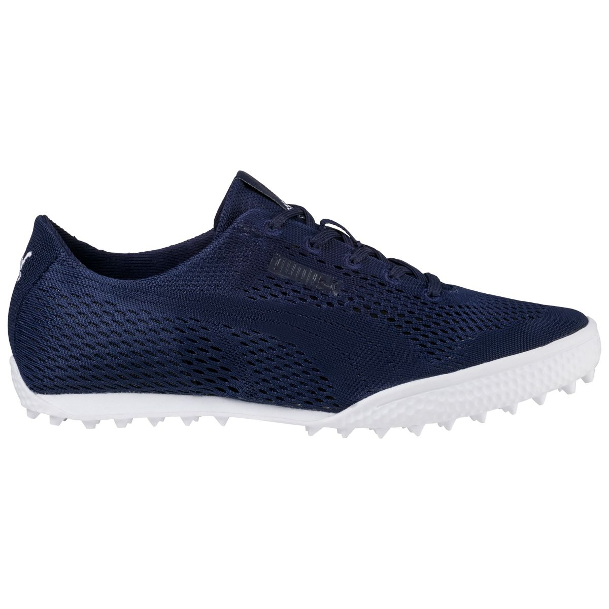 Puma Womens Monolite Cat Woven Spikeless Golf Shoe - Peacoat