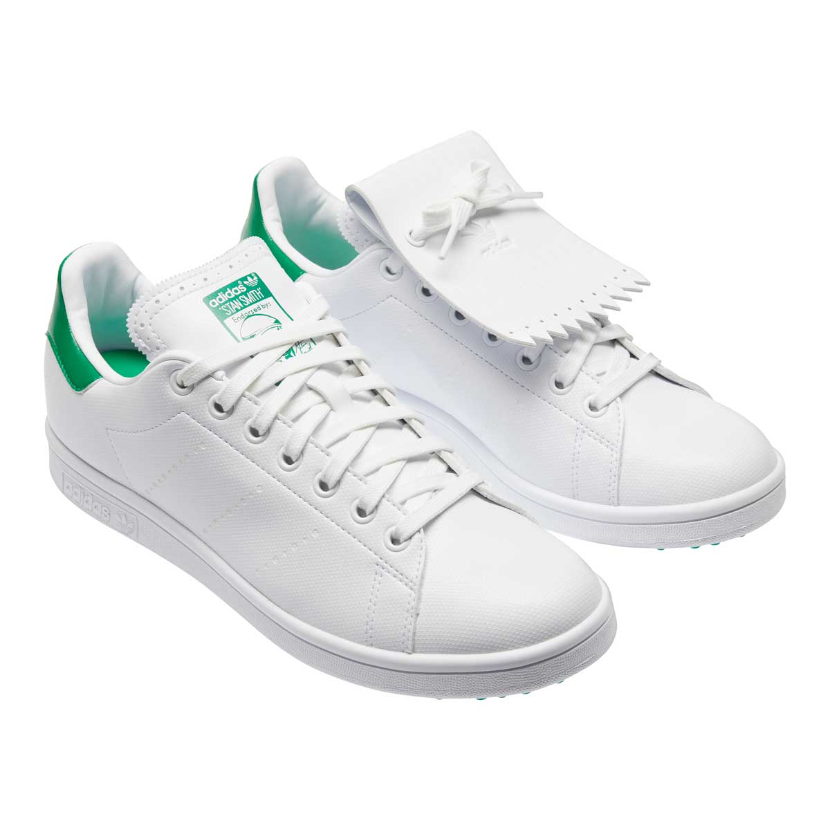 Adidas Men's Stan Smith Wite/Green Spikeless Golf Shoes