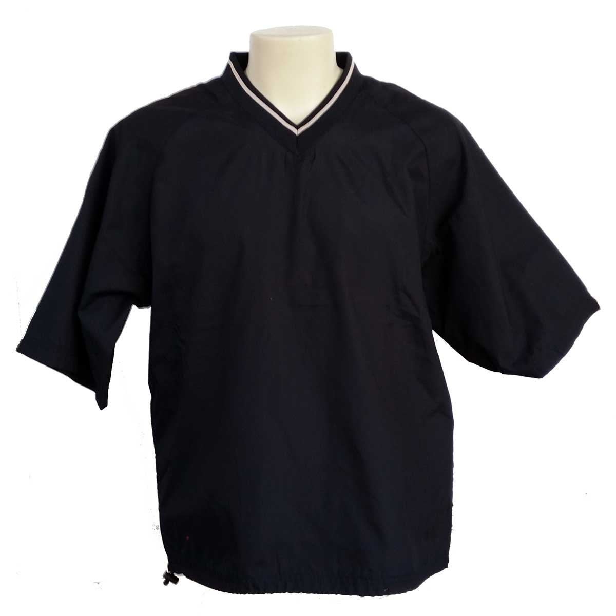 Short Sleeve Windshirt Pullover Black