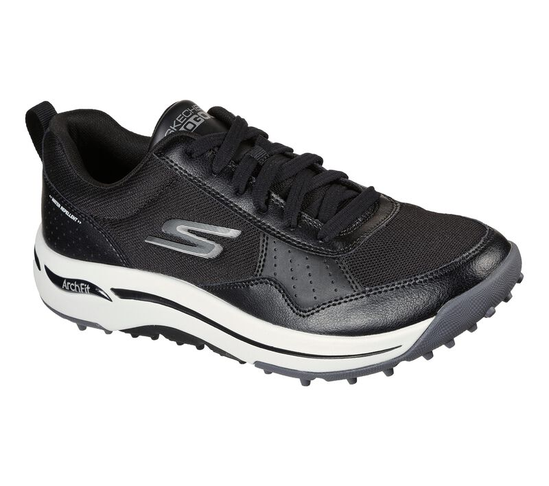 Skechers Men's Go Golf Arch Fit Line Up Golf Shoe - Black/White