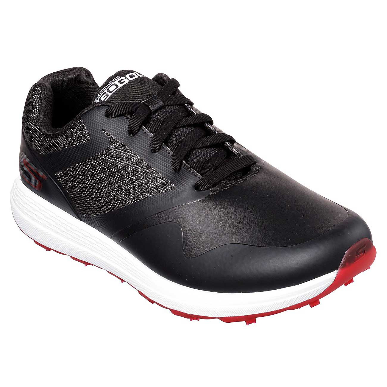 Skechers Men's Go Golf Max Black Red Golf Shoe
