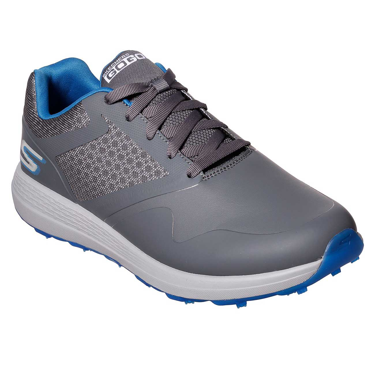 Skechers Men's Go Golf Max Grey/Blue Golf Shoe