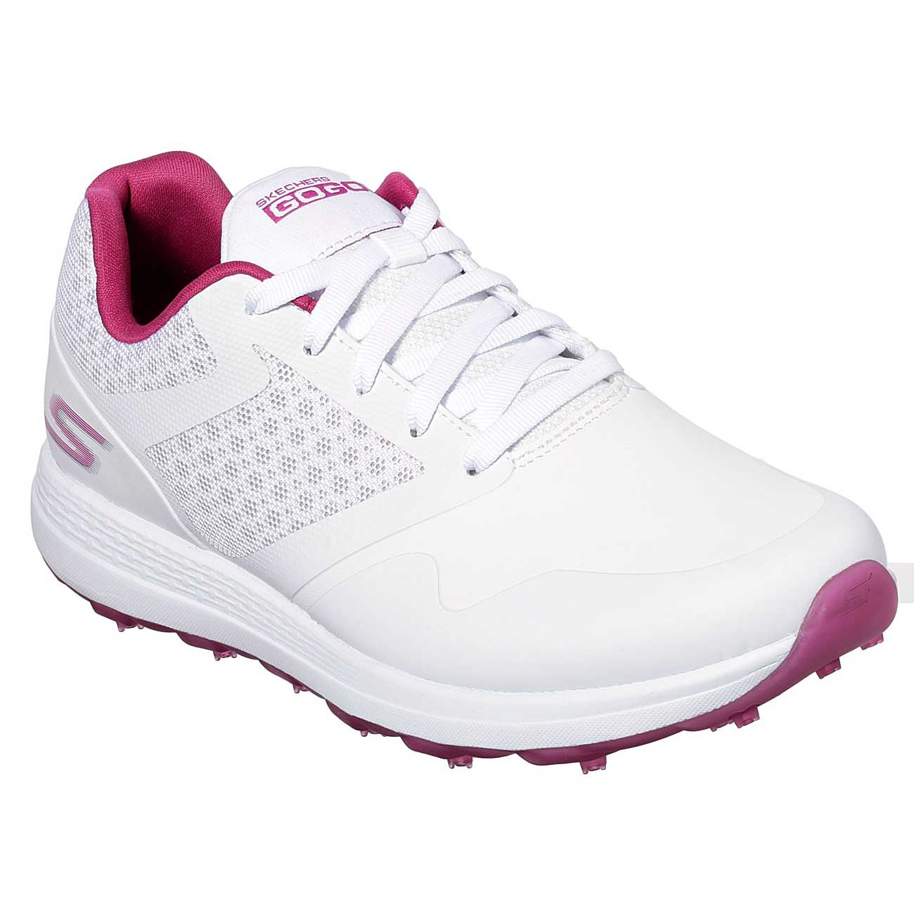 Skechers Women's Go Golf Max White/Pink Golf Shoe