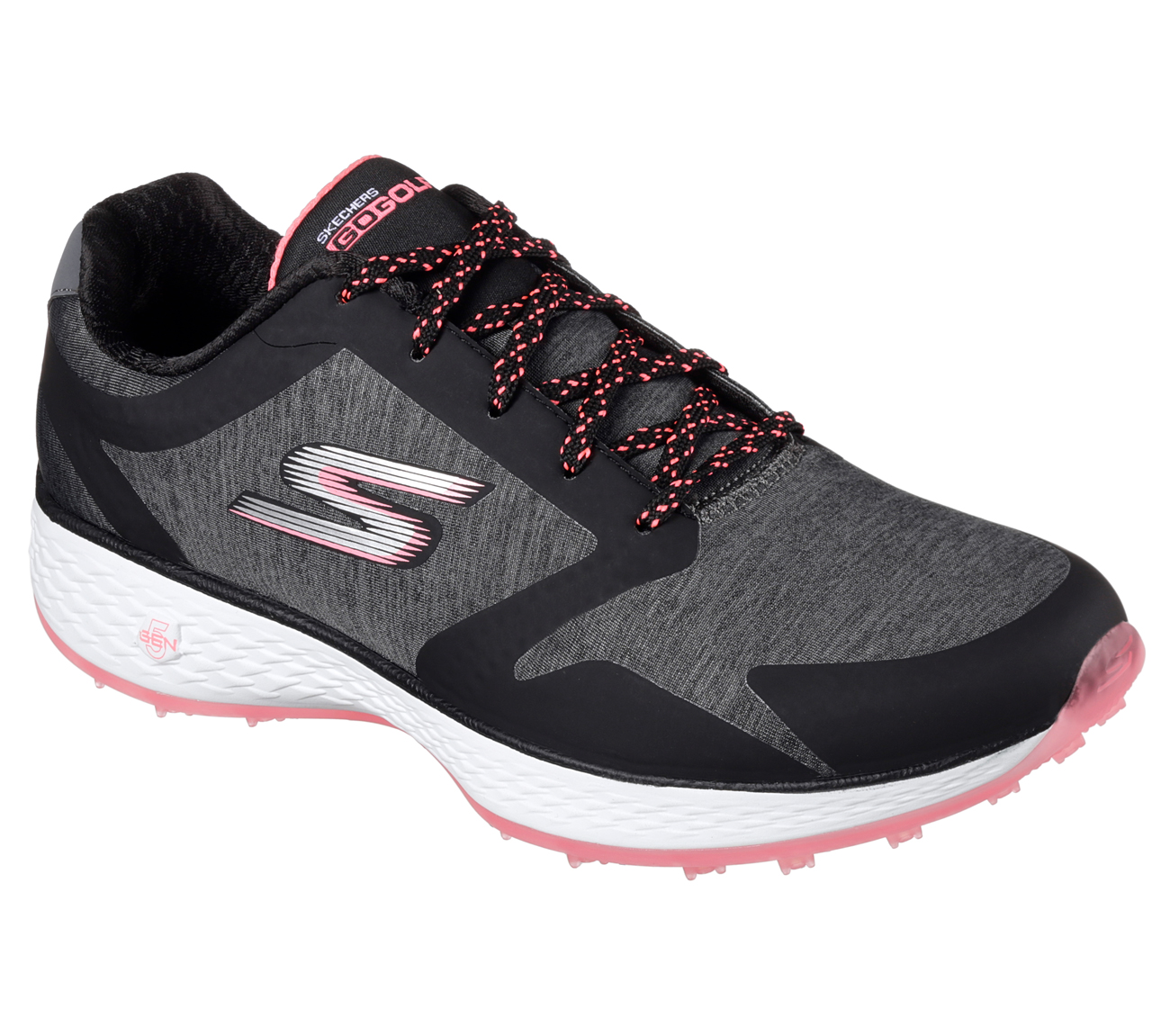 Sketchers Women's Go Golf Birdie Famed Golf Shoe - Black/Pink