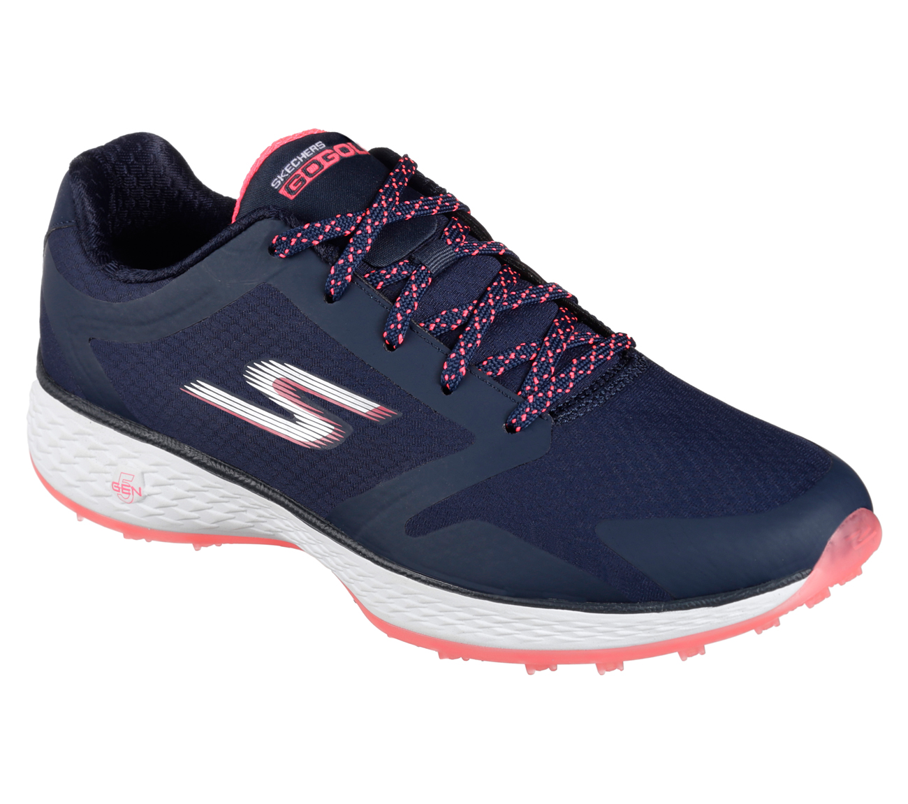 Sketchers Women's Go Golf Birdie Golf Shoe - Navy/Pink