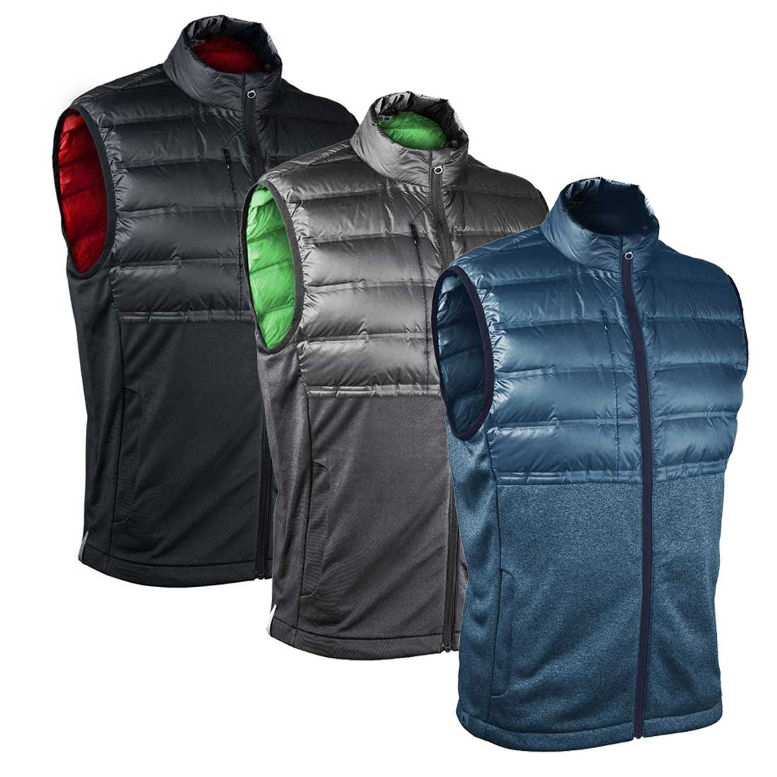 Sun Mountain Men's AT Hybrid Full Zip Vest