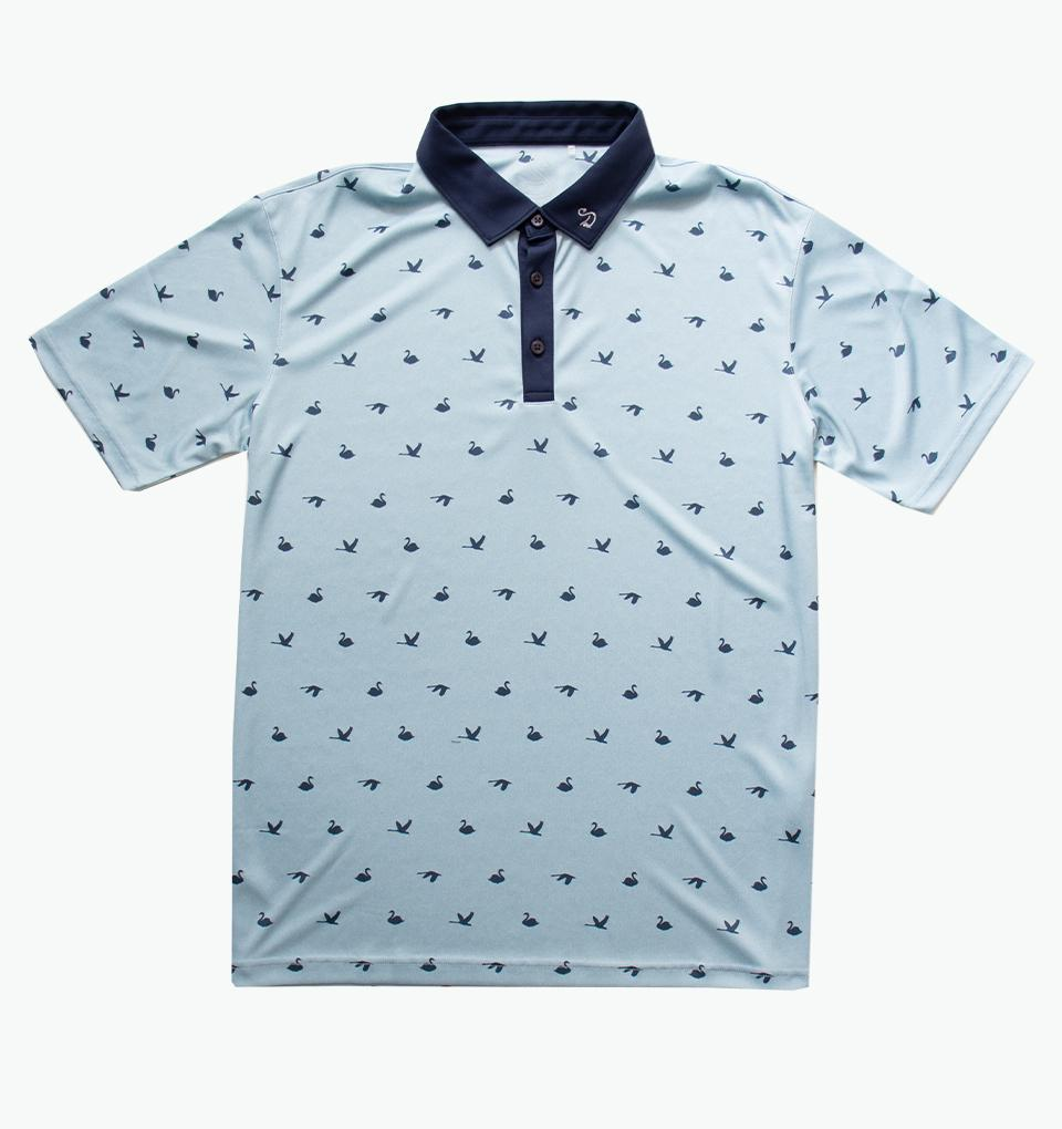 Swannies Gilligan Print Polo
