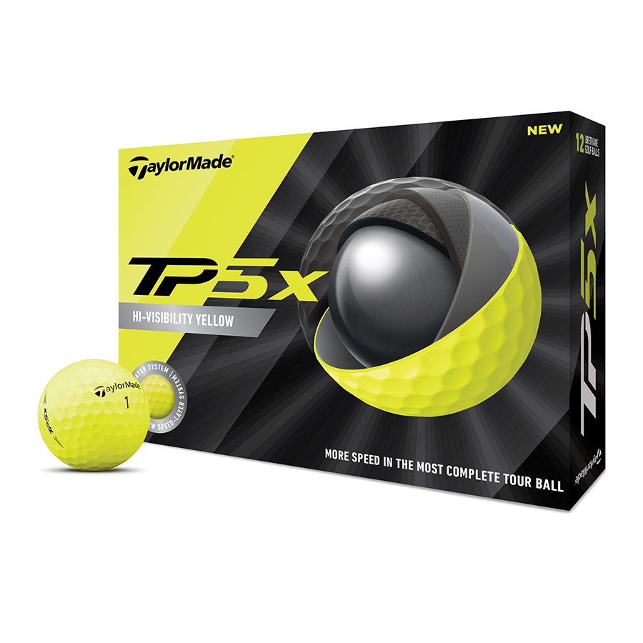 TaylorMade 2020 TP5x Yellow Golf Balls