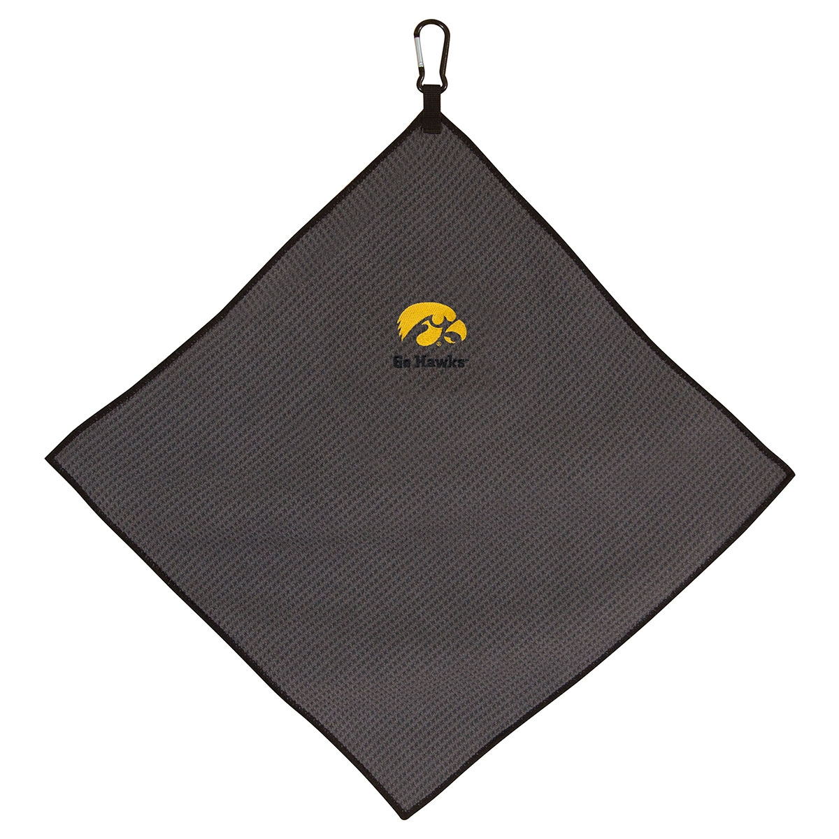 Team Effort NCAA Collegiate 15x15 Microfiber Golf Towel Iowa