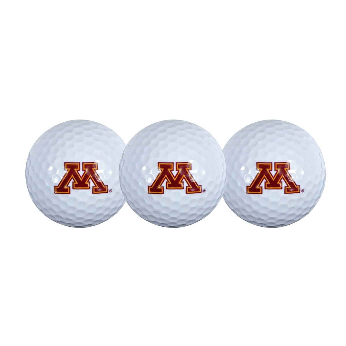 Team Effort NCAA Collegiate 3-Pack Logo Golf Balls Minnesota
