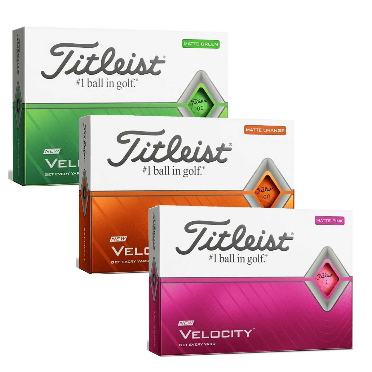 Titleist 2020 Velocity Matte Golf Balls
