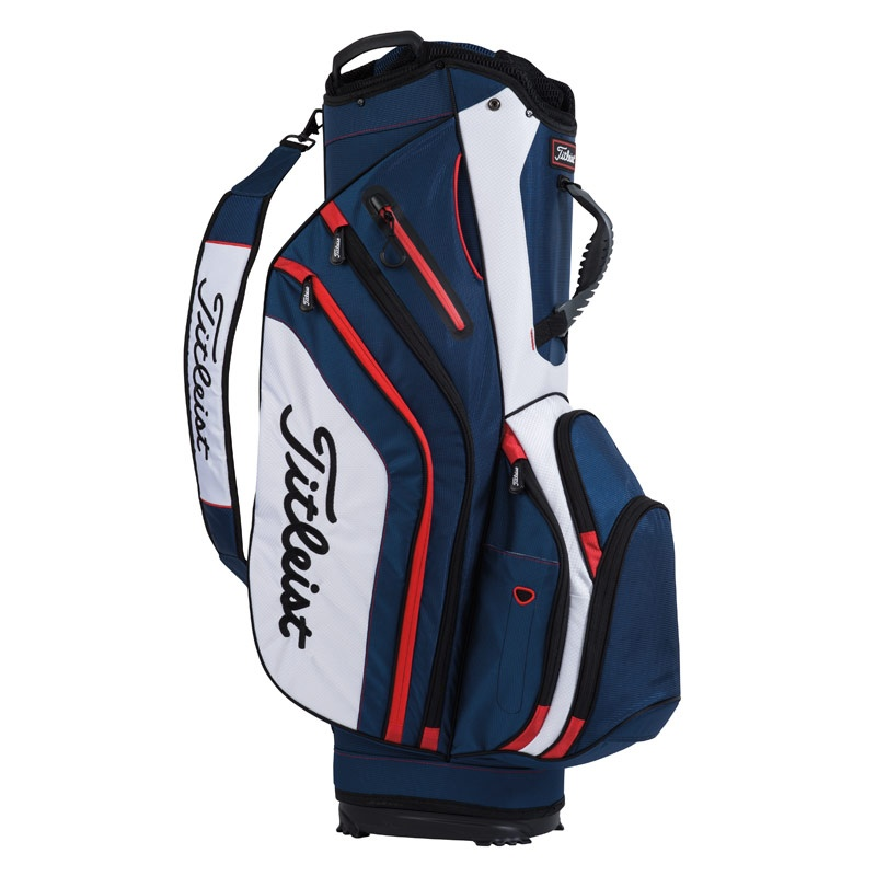 Titleist Lightweight Cart Bag - Navy/White/Red