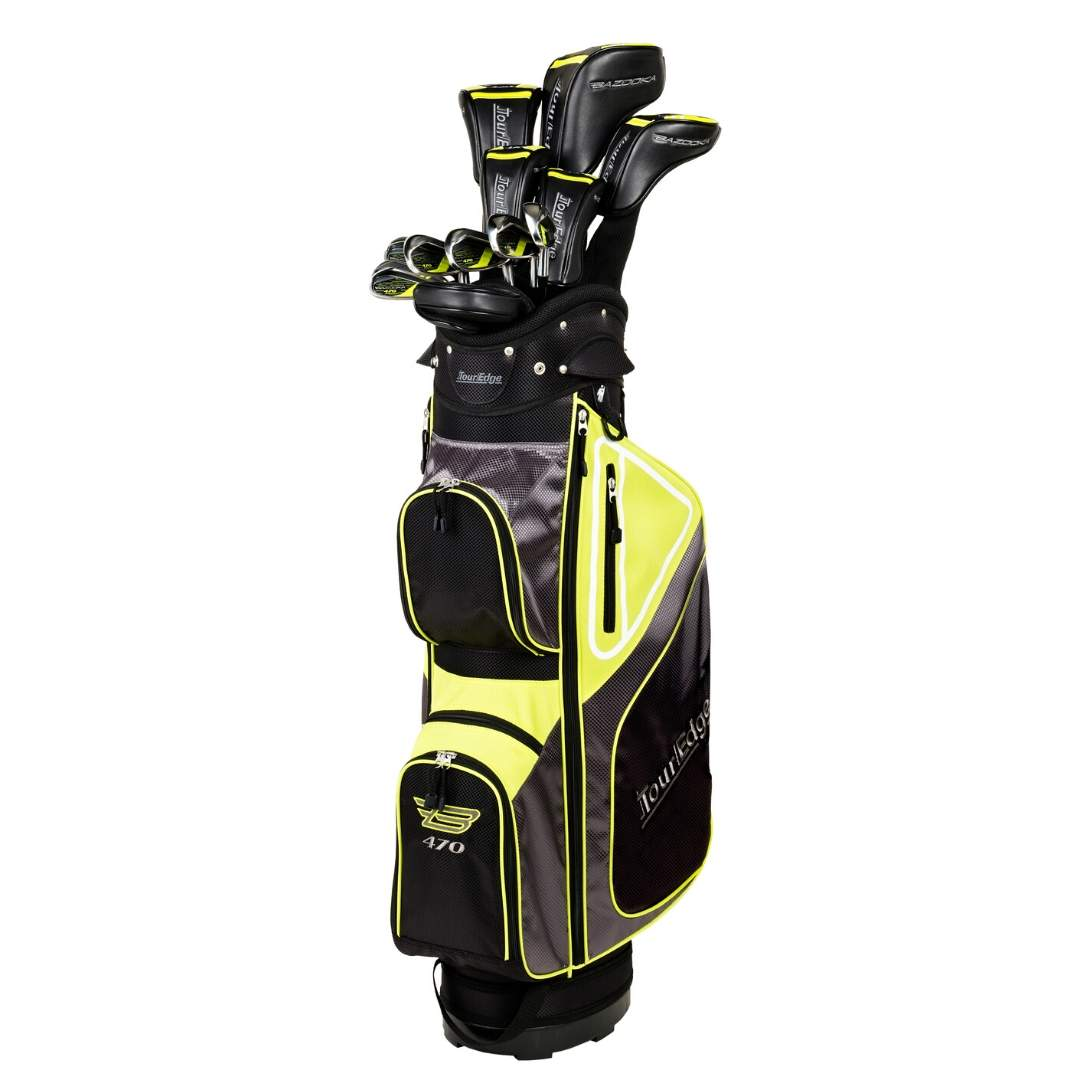 Tour Edge Men's Bazooka 470 Black Graphite Complete Set