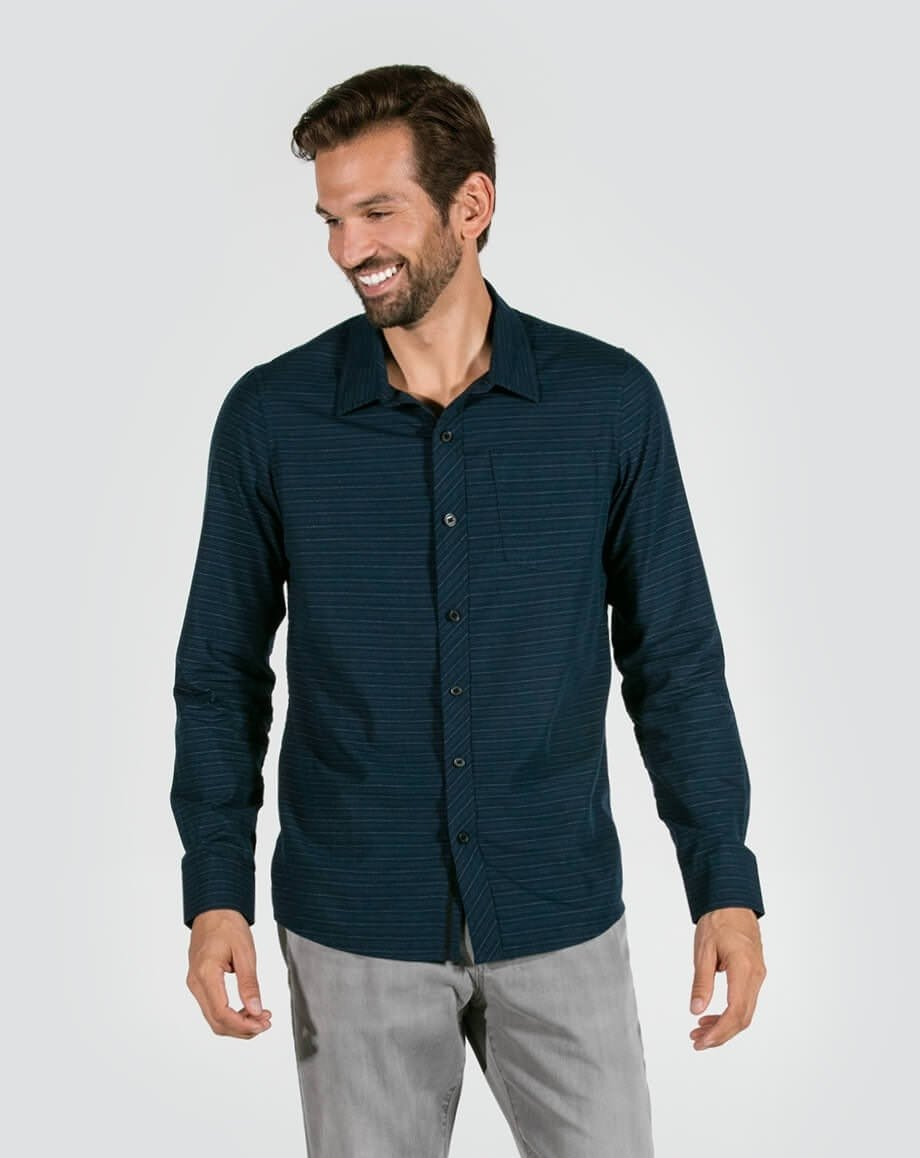 Travis Mathew Mens Chapman Button Up Woven Shirt