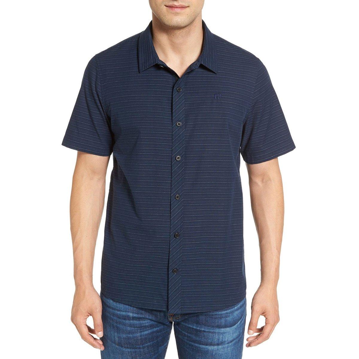 Travis Mathew Mens The Souz Short Sleeve Button Up Shirt