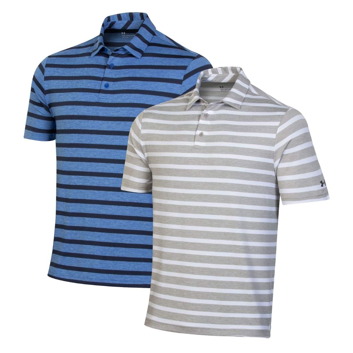 Under Armour Men's 2021 Playoff 2.0 Back Nine Stripe Polo