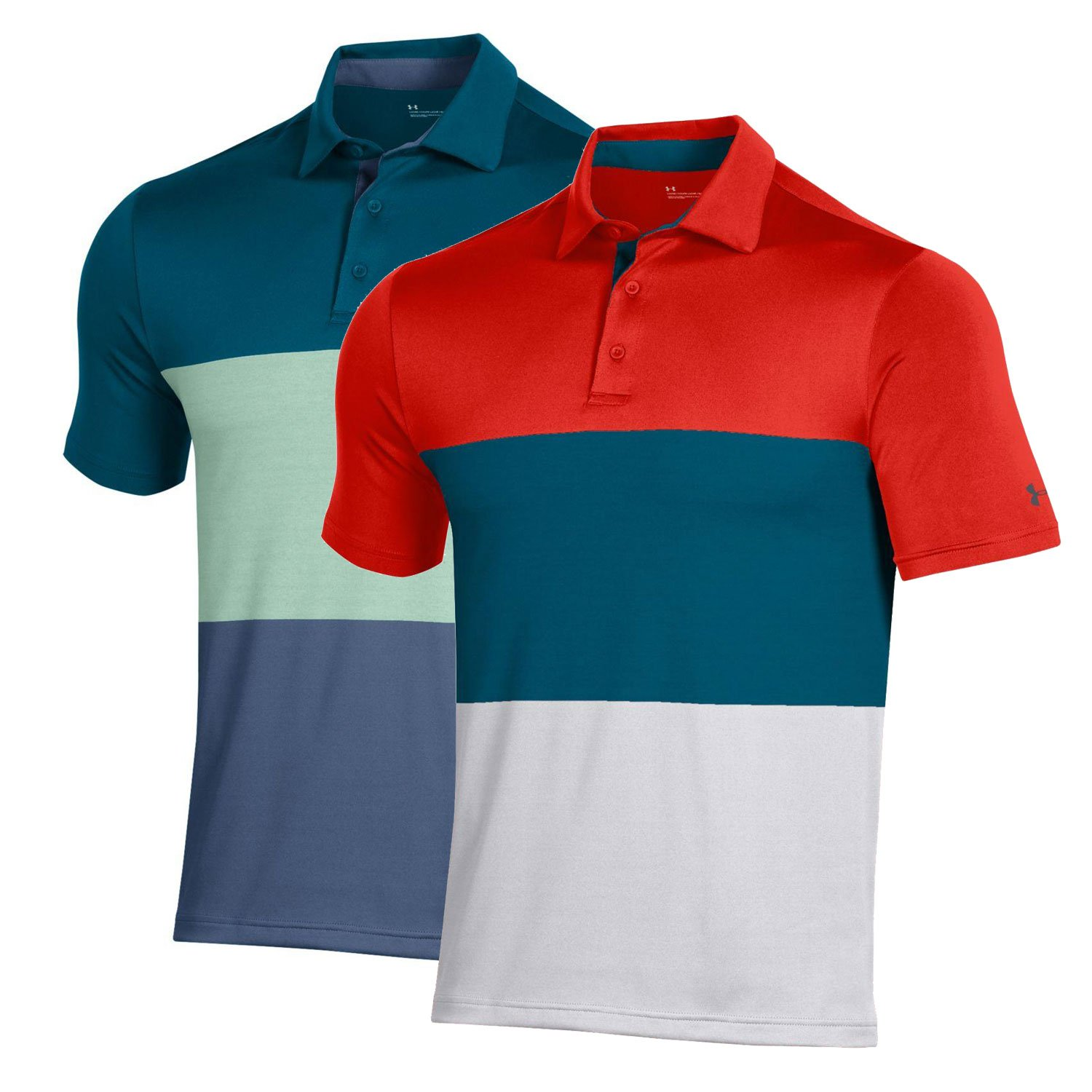 Under Armour Men's Playoff 2.0 Heritage Blocked Polo
