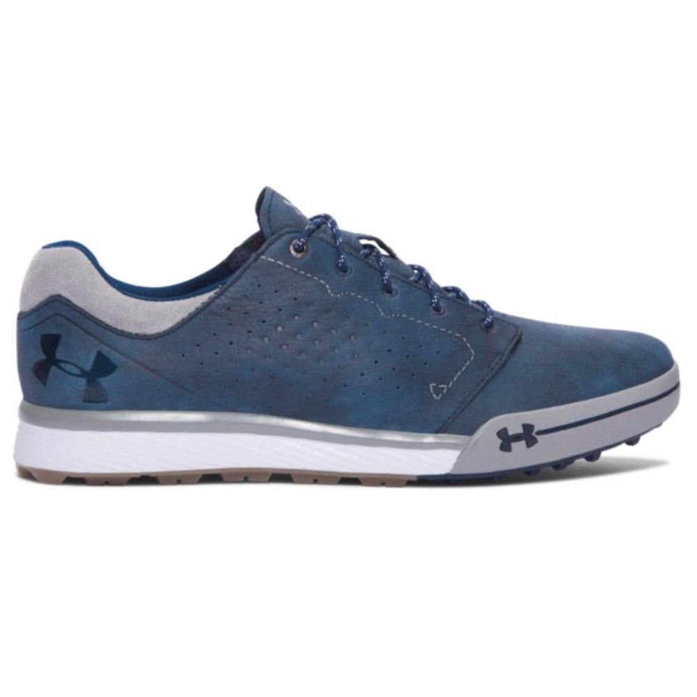 tUnder Armour Tempo Hybrid Spikeless Golf Shoe – Navy/White