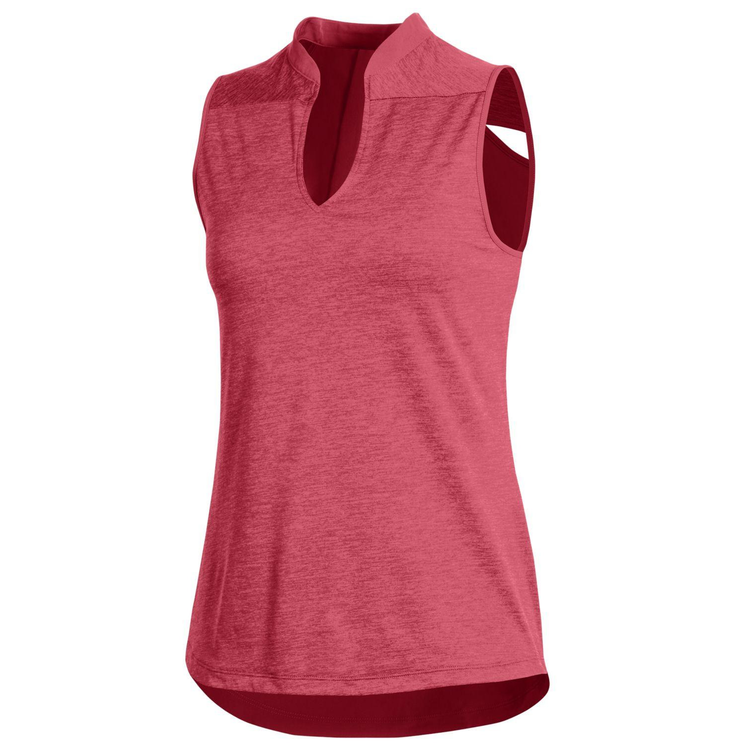 Under Armour Women's Tour Tips Sleeveless Heather Polo