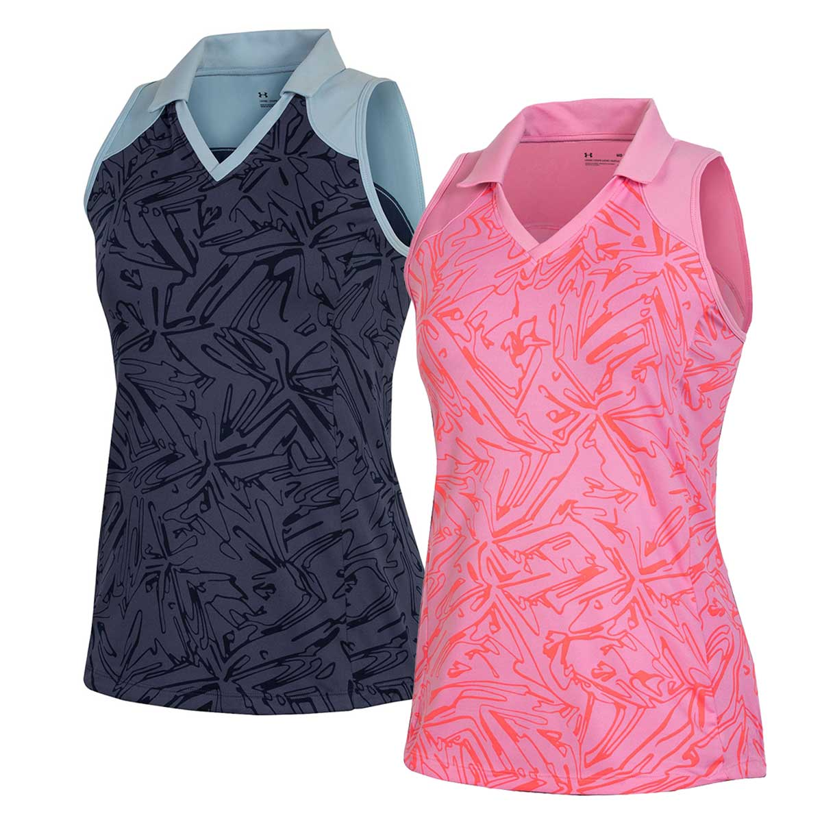 Under Armour Women's Zinger Trace Print Sleeveless Polo